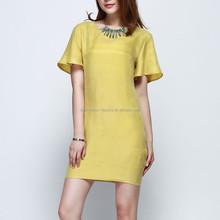 high quality fashion beautiful lady casual dress korea wholesale