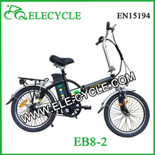 ELECYCLE 16'' or 20'' 250W Suspension Foldable/Folding Eb8 Electric BIke Electric Bicycle from Jiangmen, China