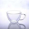 borosilicato doble pared de vidrio taza de café