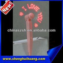 wholesale colorful LED message flashing pen fans