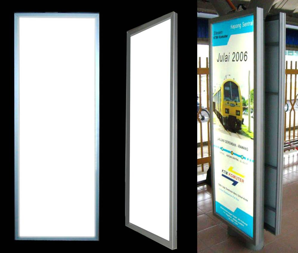 high quality acrylic light box advertising light boxes/large slim light box with frame
