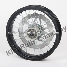 Chinese factory wholesale spare part black 17 inch motorcycle wheel