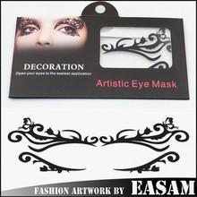 Sexy black eye mask sticker,eye art product