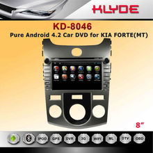 for KIA FORTE/ CERATO car dvd built in gps navigation 8inch touch screen