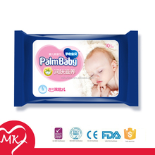 Multi choice customized sizes and private label johnson scent wet baby oil wipes
