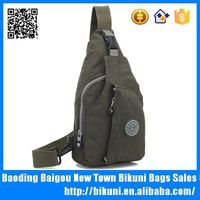 Chine wholesale hot sale Korea fashion nylon unisex chest bag men and women chest sling pack with custom logo