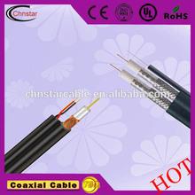 Televisión por cable precio barato rj11 cable coaxial( rg11 con el mensajero)