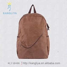 School pure color university students backpacks good capacity for travel or outdoor activities light canvas bags