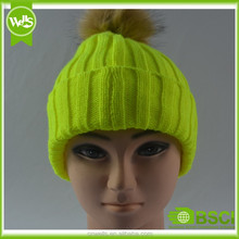 Sweet color young people winter hat