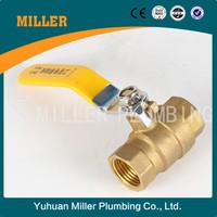 Yuhuan DN15,20,25,32,40,50,65,80,100,125,150,200,250,300 BSPPP/G/PF/K/BSPT/ZG/RC/PT brass mini ball valve ML-2027