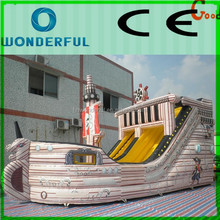 2015 Interesting water amusement games giant inflatable pirate ship combo bouncer/inflatable bouncer house