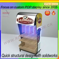 Factory price electric torch wooden display stand