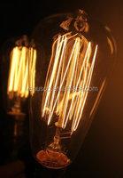 CE ROHS decorative filament light bulbs 40W dimmable filament bulb ST64 vintage edison bulb