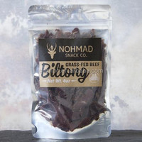 Stand up clear front zipper resealable biltong beef jerky packaging bag