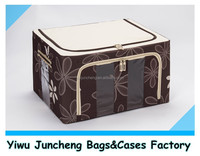 3 PVC Windows Folded Box Storage Household Storage Container with Handles