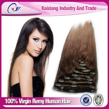 Directly Factory Price clip on virgin hair extensions