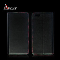Imported genuine leather cover for iphone 6s flip case