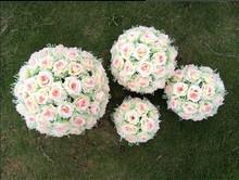 flor artificial decorativa de bola para la decoración de la boda