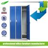 Knock down 3 door clothes storage steel locker