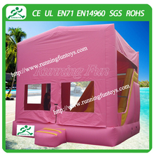 2015 Pink bouncy castle inflatable prices