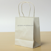 2015 New 10Pcs Candy Color kraft Paper Bag 15X8X18cm Shopping Bag Party Paper Present Wedding Favors Package Handle Gift Bag