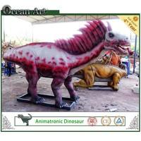 metal sculpture animatronic dinosaurs sculpture for sale
