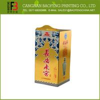 Custom Printed New Style Luxury Wine Bottle Gift Box