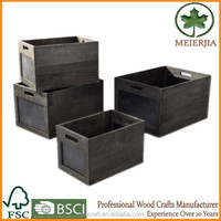 new products wooden storage creat set 4 zakka boxes