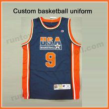 Runtowell college team basketball jerseys uniform no design / personal basketball jersey / custom basketball