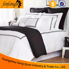 Hot sale plain white 100% cotton embroidery design bed sheet,embroidery hotel bed sheet