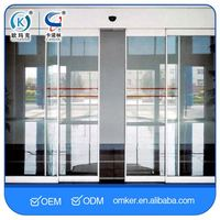 Double-Door Interlock Function Waterproof Sliding Glass Doors