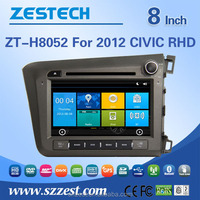 touch screen car dvd player for honda civic parts 2012 right hand drive manufacture accessories radio gps multimedia ZT-H8052