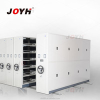 Steel Shelving Cabinet with Rolling Ladder Hardware
