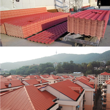 Light weight PVC plastic spanish roof tile
