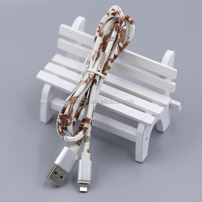 Couro usb cabo do carregador cabo usb para iphone