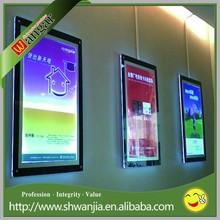 Frameless Clear Acrylic Poster Frame Promotion Acrylic LED Sign Holder