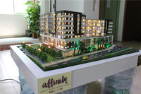 High quality model with cars ,human figuers,house building models