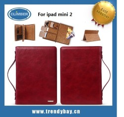 Remax brand wise man series hand bag style stand pu for ipad mini 2 leather case
