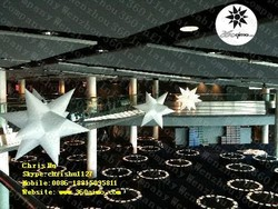 2015 hot selling factory price 12-pointed inflatable hanging party decoration spikey stars