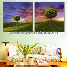 2 Panels Combination Art Pictures / Wall Paintings on UV Prints for Kitchen / Dining Room / Bed Room, No Frame