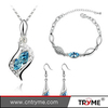 Sexy Jewelry Set Fox Shaped Necklace And Earring Crystal Jewelry For Ladies