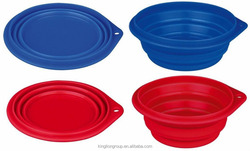 Pet Dog Portable Silicone Collapsible Travel Water Feeding Bowl