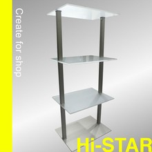 names sport shoes display rack for shoes store/ clothes shop decoration/rotating shoe rack