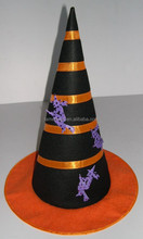 Witch Hat with Glow in Dark Bats for Halloween