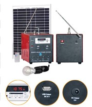 mini 10w Solar power home generating system small system with FM radio or AM radio