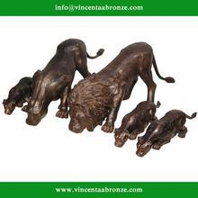 Customed modern garden sculpture bronze lion statue significance