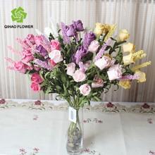 Artificial botão de rosa buquê de flores do botão de rosa bouquet