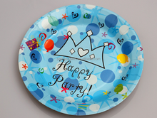 Happy Party Products Supplies Fancy Party Paper Plates,Round Paper Dish