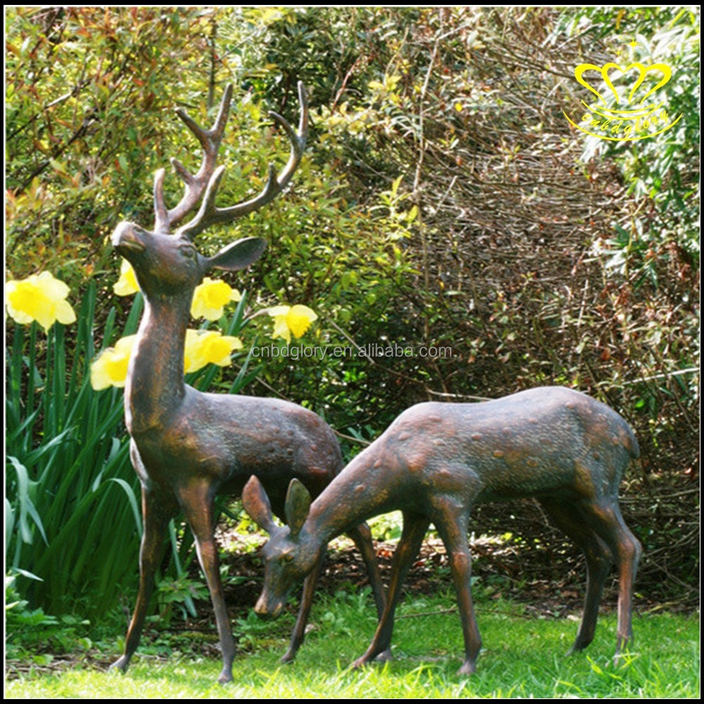 Garden Decor Deer: Life-size Bronze Deer/garden Statues For Sale/garden Decor