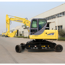China both crawler wheel excavator X8 for sale in china shandong walking travelling excavator